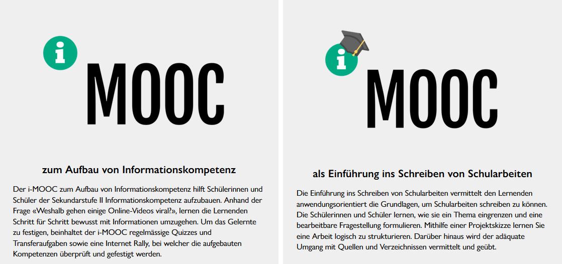 i-MOOC zwei Varianten